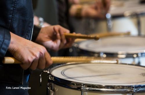 Drumband leerlingen